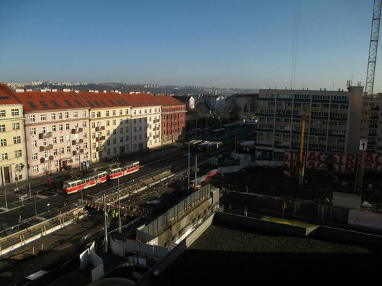 Vienna House Diplomat Prague : The Park (now a building site) towards the metro station