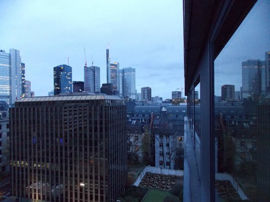 InterContinental Frankfurt: View from window of my room on right