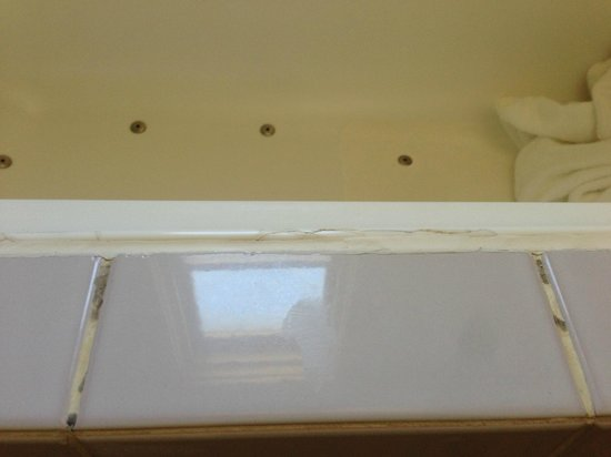 Anchorage Port Stephens: silicone, mould around the bath