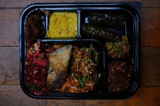 The excellent £4 lunchbox from Sunbirds Deli