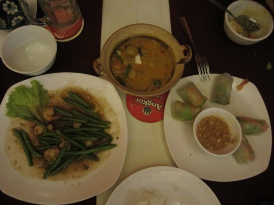 Khmer House Restaurant: 음식