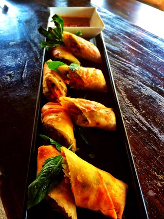 Sandy At Oldtown: green curry spring roll's