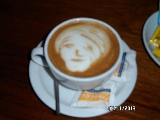 Restaurante Don Luis: Olha o capricho do café (o café Costarriquenho é delicioso!)