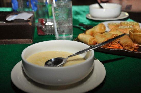 Sea One Restaurant : Corn soup