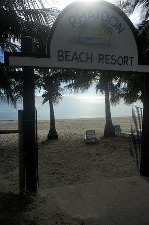 Phaidon Beach Resort: Strand