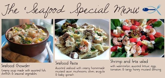 bagel shop: Some seafood dishes