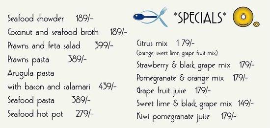 bagel shop: Special Seafood Menu