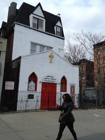 Big Onion Walking Tours: Harlem, on Lenox Avenue.