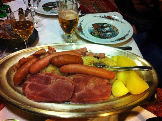 Gurtlerhoft: Choucroute classique
