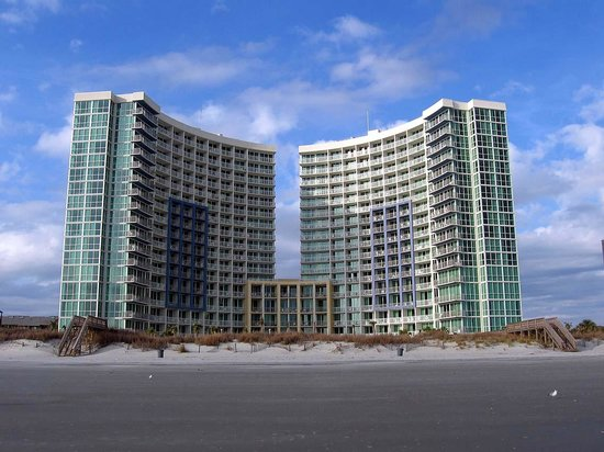 Avista Resort: Looking at Hotel from Beach in January