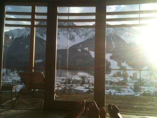 Hotel Leitlhof - Dolomiten : Vista dalla sala relax