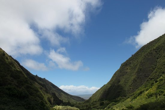 Iao Valley State Monument: Looking back toward the road