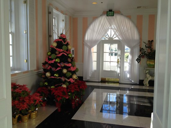 The Greenbrier: So happy they had Christmas trees still around....