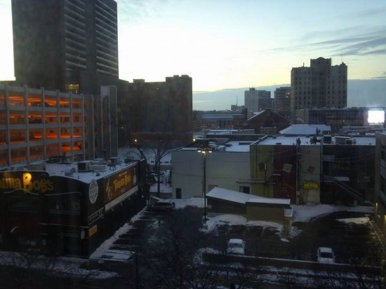 Travelodge Hotel Downtown Windsor: View from the room.  This was a rear-facing room.  There are riverview rooms as well.