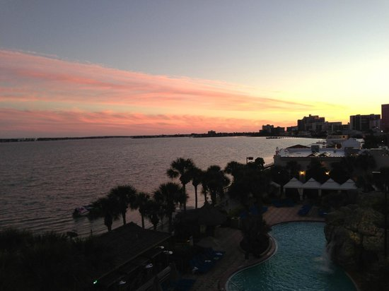 Clearwater Beach Marriott Suites on Sand Key: View from my room with sunset!
