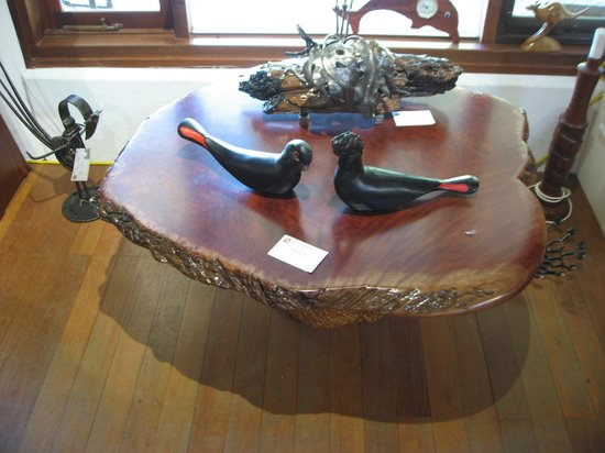 Boranup Gallery: Jarrah Burl Table on Mallee Root Base