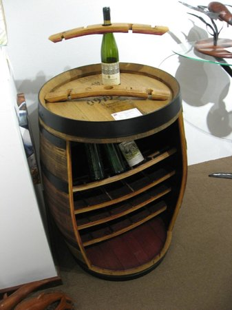 Boranup Gallery: Old Wine Barrel now a Wine Bottle Rack