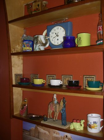 Petra Cafe: knick knacks on the wall (there's definitely an appreciation for Turkish Coffee there!)