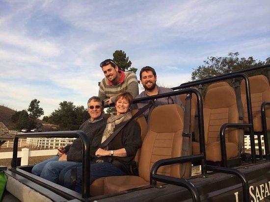 Malibu Wine Safaris: The family in the safari jeep