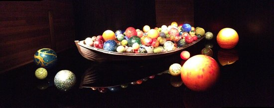 Chihuly Collection: boat and orbs