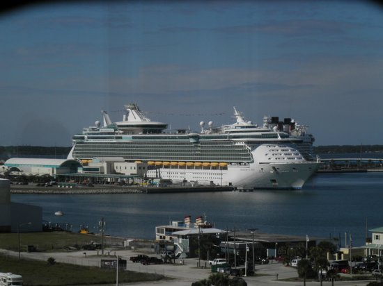 """Exploration Tower: """"Freedom of the Seas"""" from the observation deck"""