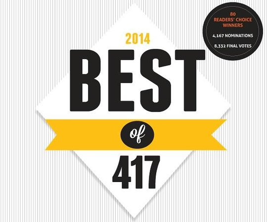 """Dobyns Dining Room : We were voted """"Best Restaurant in Branson for 2014"""" by 417 magazine, a Springfield publication."""