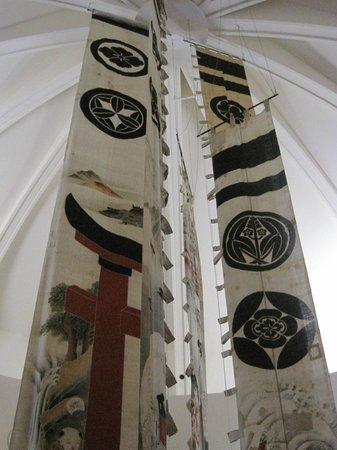 Musée National des Arts Asiatiques - Guimet : Bandiere (nobori) della sezione giapponese