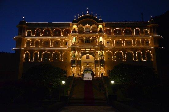Samode Palace: En rentrant de nuit