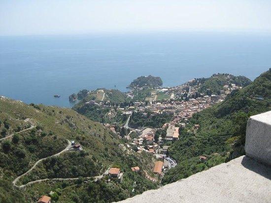 Castillo de Castelmola : view from castelmola