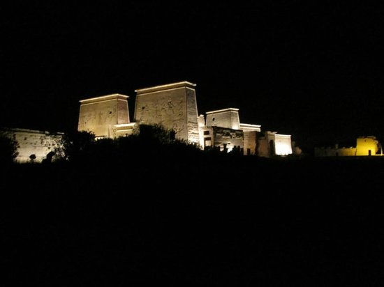 Philae Island : Philea - leaving after the sound and light show by water taxi