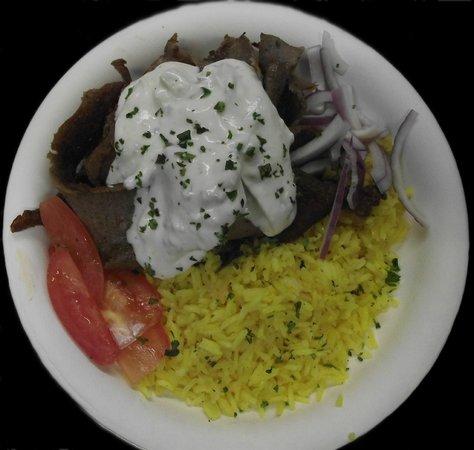 Greek Cafe: Gyro Plate