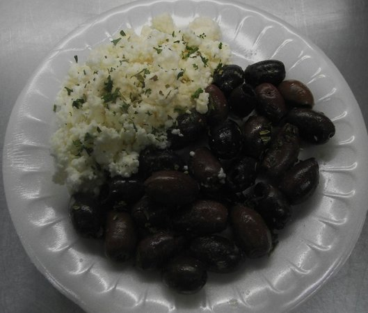 Greek Cafe: Feta with Kalamati Olives Appetizer