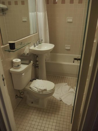 The Roosevelt Hotel: this was our bathroom in the 4**** hotel