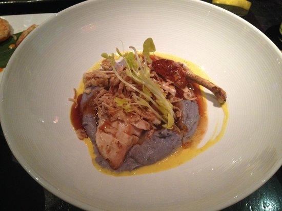 Sushisamba: Teriyaki Chicken w/ purple potatoes. Phenomenal!