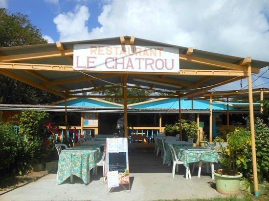 Le Chatrou : le restaurant vu de l'extérieur