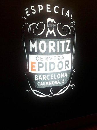 Fàbrica Moritz Barcelona: Luminoso da Epidor
