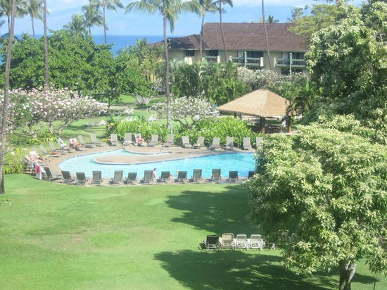 Kaanapali Beach Hotel : View of pool from our room