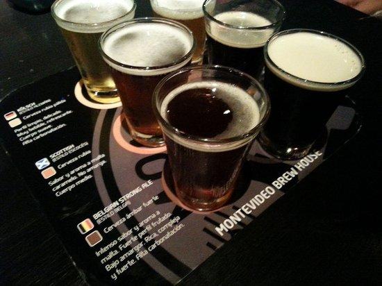 Montevideo Brew House: Degustación de cervecitas mini