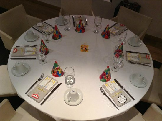 Birthday Table Setting for Kids - Picture of The Excelsior Bistro ...