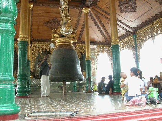Large Bell at Shwedagon Pagoda