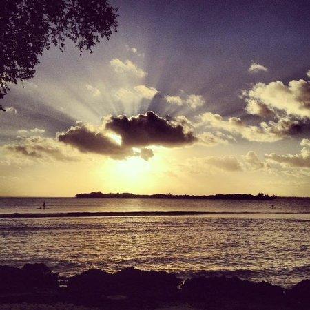 Eratap Beach Resort: Sunset View from #9
