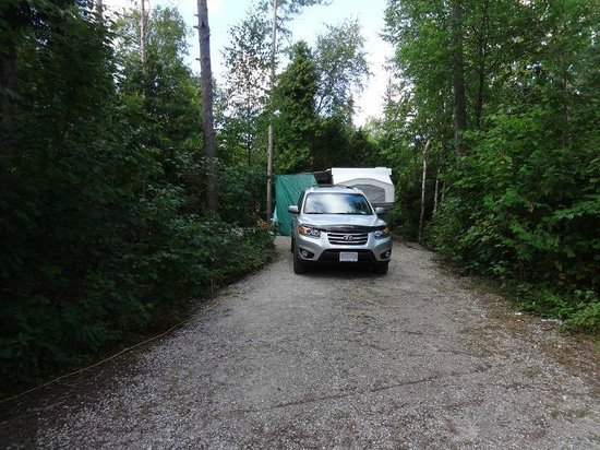 Inverhuron Provincial Park: Lovely, private campsite in Lime Kiln Campground