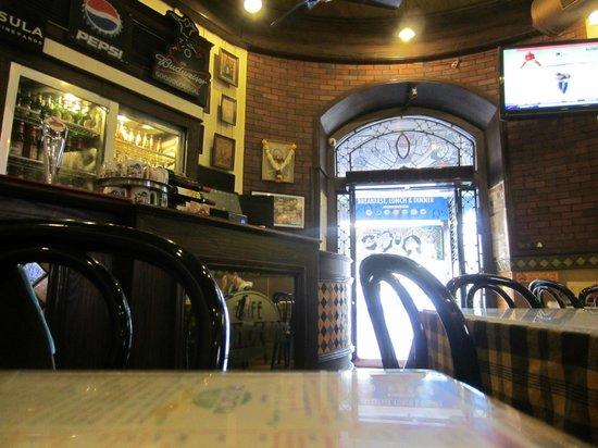 Cafe Mondegar : Early morning interior of Café Mondegar, Mumbai