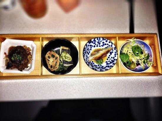 Minami Restaurant: Dine Out Dinner Menu - Beet Salad, Foie Gras Gyoza, Sablefish & Braised Short Rib