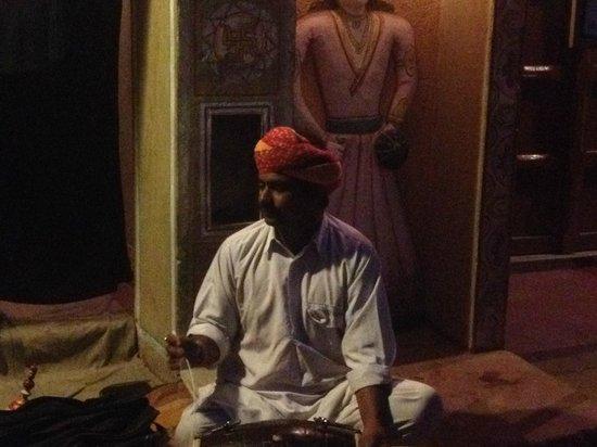 Chokhi Dhani Resort : an artish performing puppet show