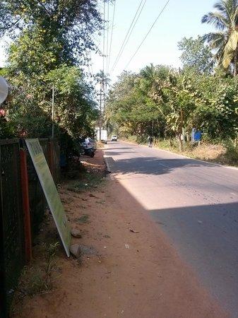 The Goa Village Inn: Дорога