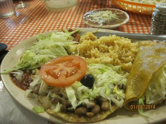 """Camacho's Place: One of their """"standard"""" plates. (Generous serving!)"""