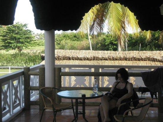 Eden Villa Hotel Mauritius: Balcón comunitario