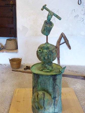 Pilar and Joan Miro Foundation in Mallorca: scupture in the museum