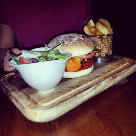 Armathwaite Hall Hotel & Spa: burger at bistro